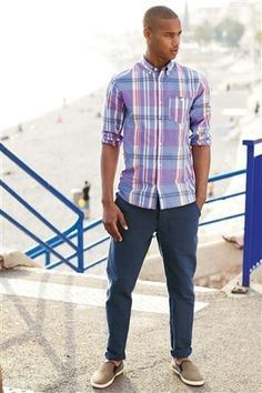 Buy Purple Check Shirt from the Next UK online shop