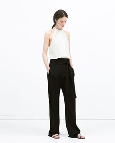 TOP WITH PLEATED FRONT from Zara