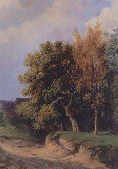 Landscape with road, 1855, Aleksey Savrasov