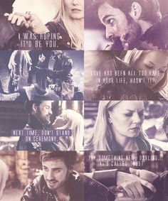 Emma & Hook or Captain Swan :)  ...hope we get more of those 2 together in season 3