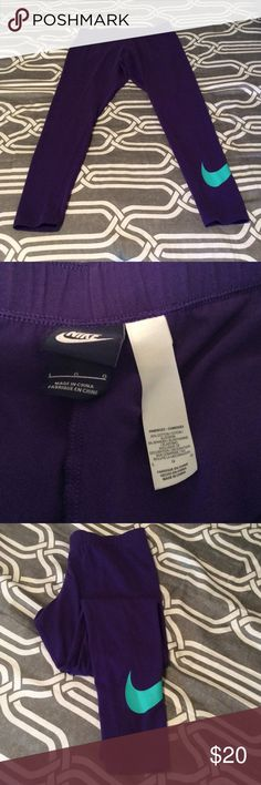 Nike Cotton Leggings In great condition, only worn a few times. Nike Pants Leggings