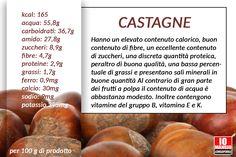 castagne e valori nutrizionali.  #castagne