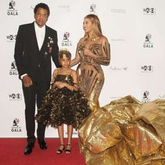 Beyonce and her family are golden in gold at art gala