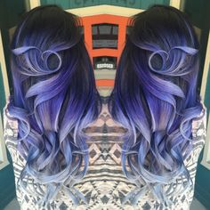 Colortrak Summer of Color Entry- Villainous Violet to Striking Steel Ombre Hair
