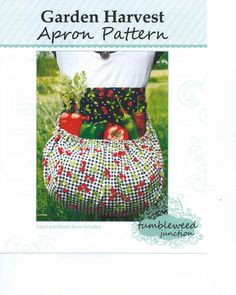 This is a PATTERN ONLY to make your own Garden Harvest apron for yourself or a gift. You pick your own fabrics and make your own custom apron.