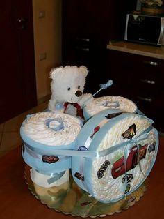 Torta di pannolini batteria diapers cake