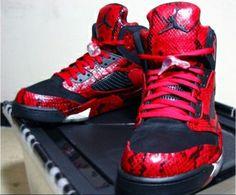"Super Max Perfect Air Jordan 5 ""Red Spitting Cobra"" shoes @ http://www.jennynikeshoes.ru/"