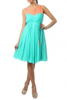 Mode Turquoise dress