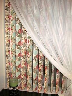 DIY Updating Fabric Vertical Blinds