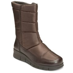 A2 by Aerosoles Thermal Women's Water Resistant Quilted Winter Boots, Size: medium (8.5), Brown