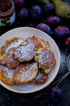 Dyniowe racuchy z jabłkami