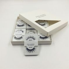 12 Pieces/1 set Natural Sparse Cross Eye Lashes Extension Makeup Long False Eyelashes