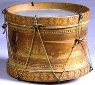 Gold Antique Toy Drum