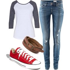 Classic and CUTE. Plus it has converse or vans.... i can't tell the difference in this picture,