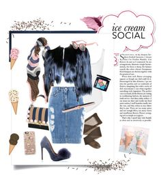 """""""Pretty Pastels: Ice Cream Social"""" by meechsmommy ❤ liked on Polyvore featuring Colonial Mills, Bobbi Brown Cosmetics, Fendi, Wolford, Moschino, Cédric Charlier, Christian Dior and Casetify"""