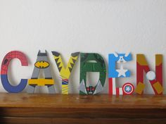 Best Seller Superhero Letter Art by TheLetterBug on Etsy
