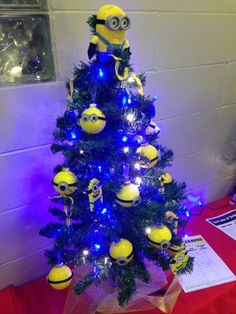 Despicable Me Miniature Christmas Tree - provided by patrons of Christ Lutheran Church in Lincoln, NE for Charity Auction