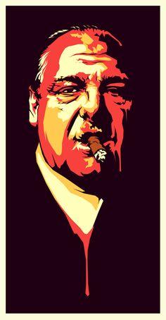no thought was put into this — Anthony Soprano by TP Farewell James Gandolfini. Smoking Celebrities, Don Corleone, Tony Soprano, Cigar Art, Book People, Movie Poster Art, Movie Stars, Comic Art, Pop Art