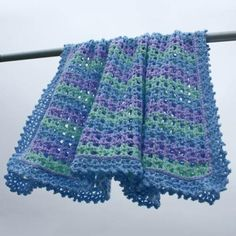 """Baby Blanket Patterns to Make for Preemies: A crocheted baby blanket - """"Striped Baby Afghan"""""""