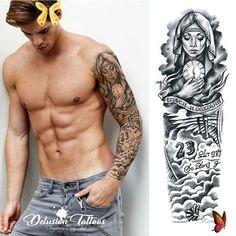 <br> Realistic Temporary Tattoos, Temporary Tattoo Sleeves, Arm Sleeve Tattoos, Forearm Tattoo Men, Tattoo Arm, Butterfly Leg Tattoos, Feminine Tattoo Sleeves, Feminine Tattoos, Temp Tattoo