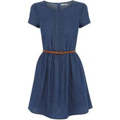 OASIS Harriet Denim Vestido