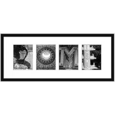 ROME  A souvenir of Rome written in letters from London  Hand-finished in a black frame with a choice of black or white matting.  Each photo's location is written on the back of the picture.  €88p+ p
