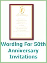 wording for your 50th anniversary invitations