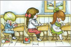 """School, from """"Morning is a littler child, by Joan Walsh Anglund."""