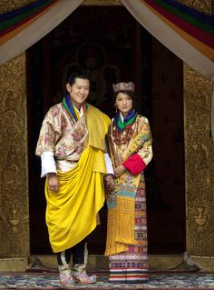 King Jigme Khesar Namgyel Wangchuck and Queen Jetsun Pema pose after they were married  at the Punakha Dzong, in Punakha, Bhutan. (AP)