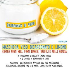 Mask With Lemon And Sodium Bicarbonate -- Maschera Con Limone E Bicarbonato Di Sodio – Mask With Lemon And Sodium Bicarbonate – - Natural Beauty Recipes, Beauty Tips For Face, Beauty Make Up, Beauty Care, Beauty Skin, Health And Beauty, Beauty Hacks, Hair Beauty, Skin Care Regimen