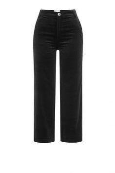MiH Jeans MiH Jeans Cropped Denim Culottes aus Baumwolle – Schwarz