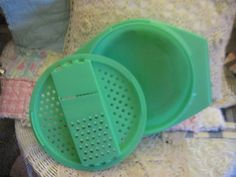 Tupperware Green Grater Bowl by Daysgonebytreasures on Etsy, $8.00