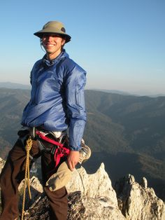 Who needs two hats to climb? Apparently this guy. Our Marketing Director at Castle Crags State Park in CA, circa 2004 #tbt #mountains #climbing #nature #dontforgetyourhat www.sundayafternoons.com