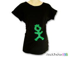 A unisex pregnancy t shirt.