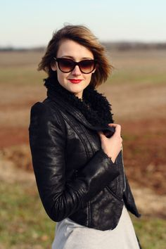 Leather and a red lip