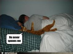 I hate being the big spoon...