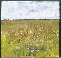 Credit: Kurt Jackson/Friends of the Earth Comfrey, meadowsweet, loosestrife, valerian, sedge, thistle, skylark, breeze, Fen; mixed media 28.5 cm x 29 cm