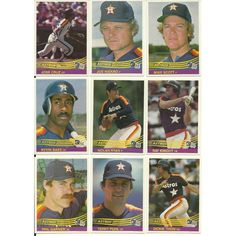 1984 Donruss ASTROS Team Set 26 Cards MT To GM Out Of Shrinkwrap RYAN
