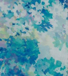Simply Silky Prints Fabric Scatter Floral Blue Chiffon