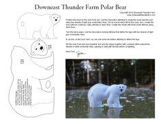 polar bear felt pattern
