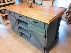 11 DIY Kitchen Island Woodworking Plans: Farmhouse Kitchen Island Plan from Ana White