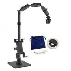 Remarkable Creators 3-n-1 Phone and Tablet Stand with Ring Light Bundle