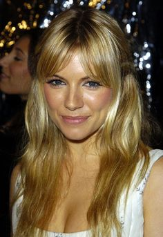 Centre-parted Middle-parted fringes like Sienna Miller's suit oval and round face shapes, and should be avoided by those with high foreheads as the gap in the middle draws attention to forehead length.