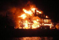 Coastal Living House on Fire