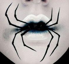 15 gruselige Halloween-Make-up-Ideen, die . - Halloween Makeup Secrets - Make Up Makeup Clown, Witch Makeup, Scary Makeup, Sfx Makeup, Devil Makeup, Zombie Makeup, Makeup Lips, Halloween Makeup Looks, Halloween Looks