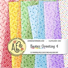 Easter Greeting 4 Papers by Adriana Ferrari