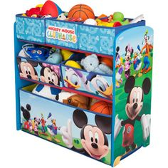Disney Multi Bin Toy Organizer, Mickey Mouse....Wanting to redo Billy's bedroom in Mickey! This will be a must!