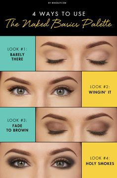 4 Ways To Use The Naked Basics Palette I #makeup #cosmetics #beauty #howto #tutorial #eyes #eyeshadow #face #eyeliner #urbandecay #nakedbasics #smokey #brown #palette www.pampadour.com