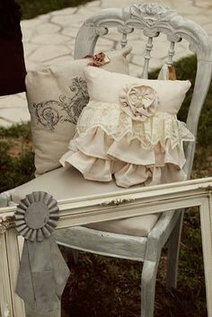 pillow love ruffles