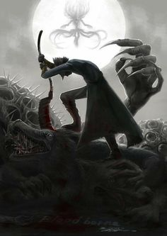This isn't Dark souls, but its still awesome. - It's Bloodborne. This isn't Dark souls, but its stil Sif Dark Souls, Arte Dark Souls, Dark Blood, Old Blood, Medieval Fantasy, Dark Fantasy, Bloodborne Game, Soul Game, Alchemy
